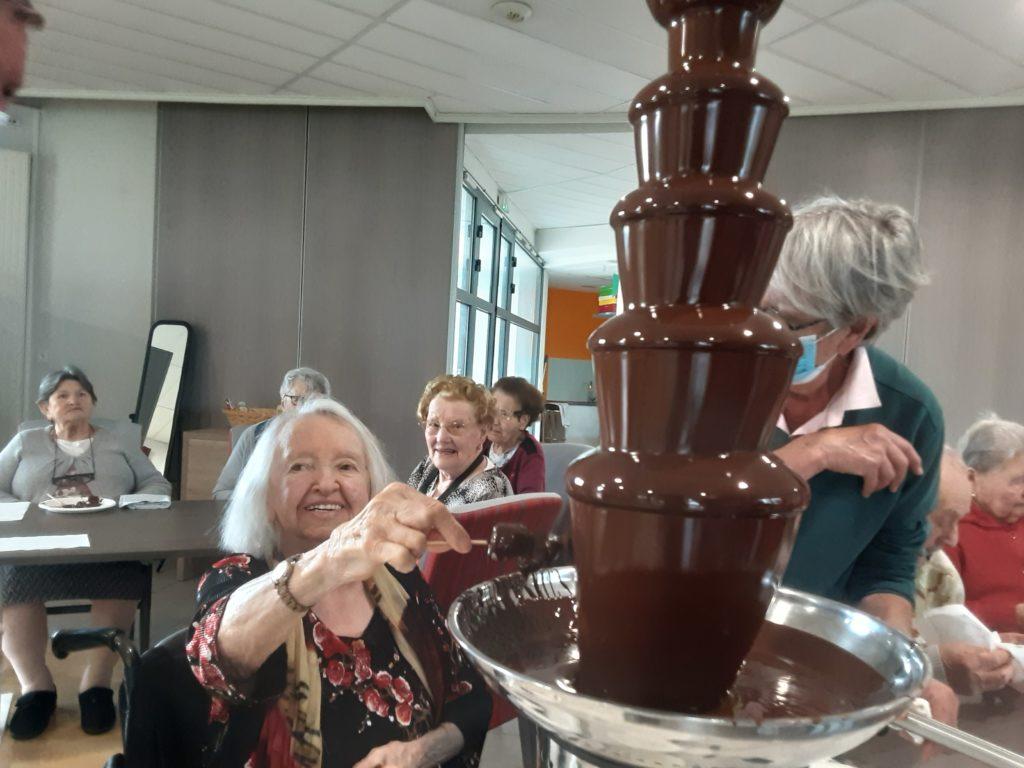 La fontaine à chocolat