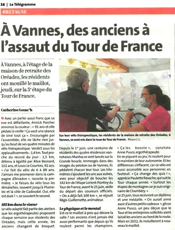 Les résidents à l'assaut du Tour de France